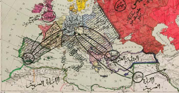 Ein anderes Werk des Dresdner Schrottkünstlers dokumentiert seinen Traum einer militärischen Eroberung Europas durch den Islam