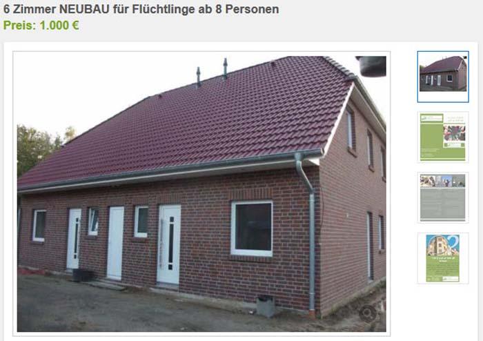 Neues Haus Nur F R Fl Chtlinge Auf Ebay Kleinanzeigen Angeboten Politikstube
