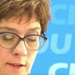 Kramp-Karrenbauer greift AfD-Forderung für Schutzzonen in Syrien auf
