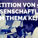 Petition von 90 Wissenschaftlern zum Thema Klima