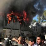 Unruhen nach Brand im Migrantenlager auf Lesbos: Feuerwehrleute und Polizisten wurden mit Steinen angegriffen