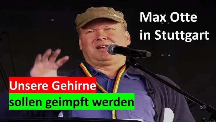 Rede von Max Otte auf der Demo in Stuttgart