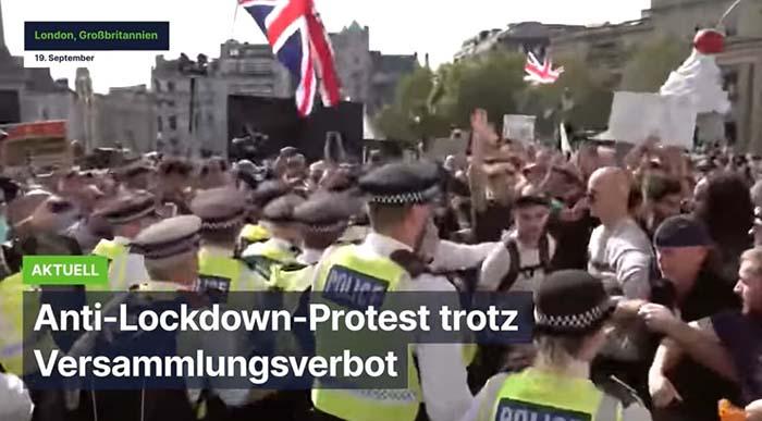 London: Anti-Lockdown-Protest