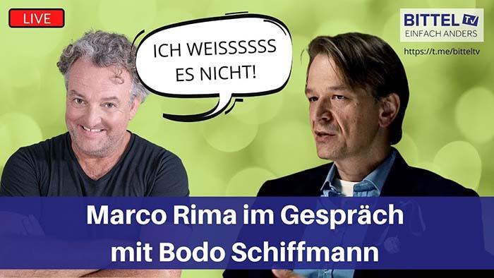 Marco Rima im Gespräch mit Bodo Schiffmann