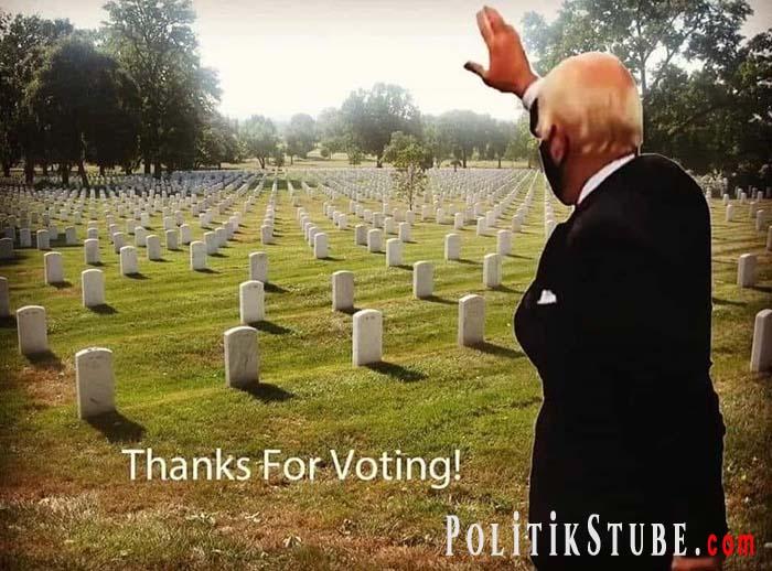 USA: Biden hat 13 Millionen Stimmen mehr bekommen, als es Wahlberechtigte gab | Politikstube