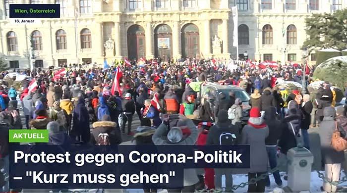 """Wien: Protest gegen die Corona-Politik – """"Kurz muss gehen"""""""